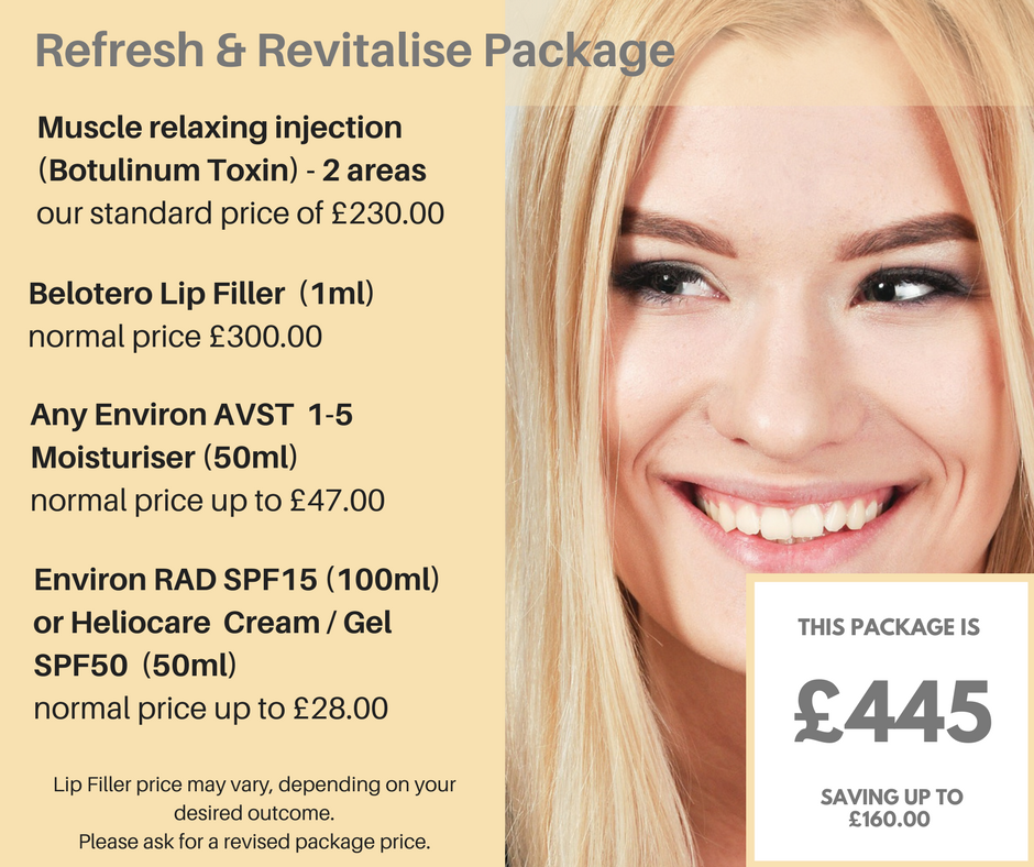 Refresh and Revitalise package to look good and feel great